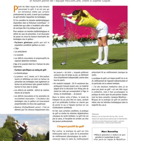 Golf et Lombalgie