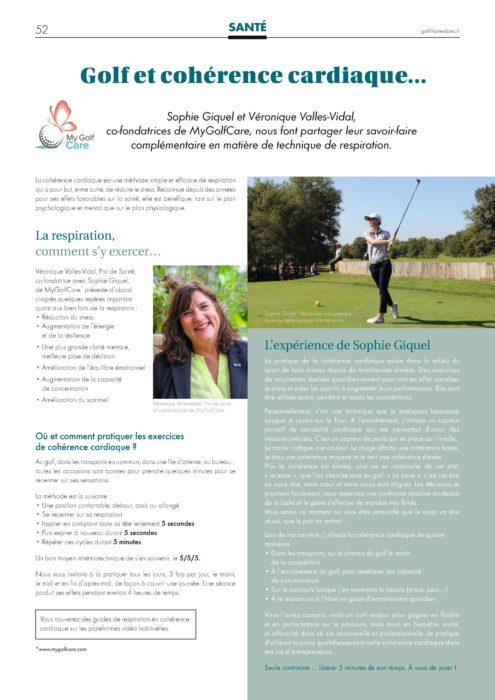 Golf et cohérence cardiaque
